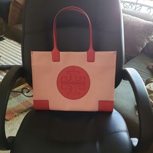 Brand New Tory Burch Canvas and Leather Ella Tote